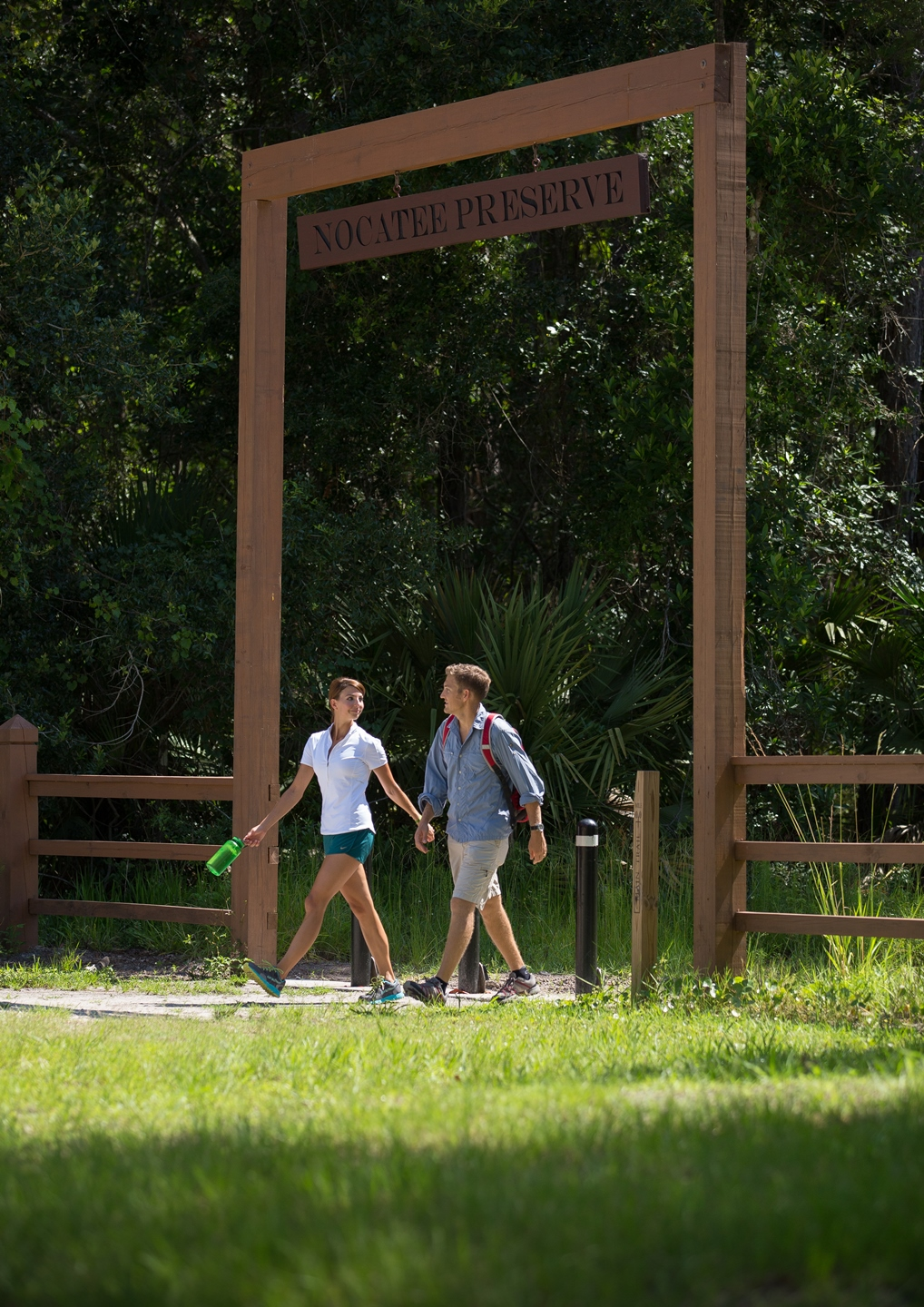 Trail walking at The Nocatee Preserve