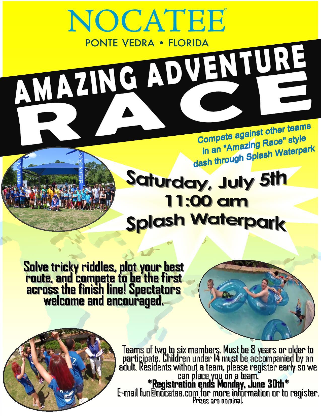 Nocatee Amazing Adventure Race at Splash