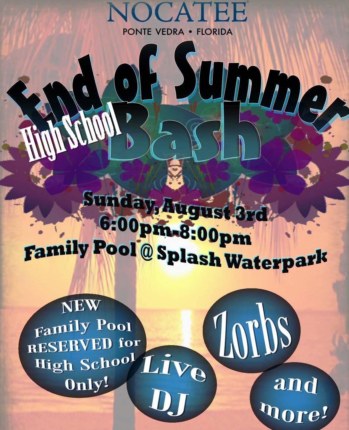 Nocatee End of Summer Bash at Splash