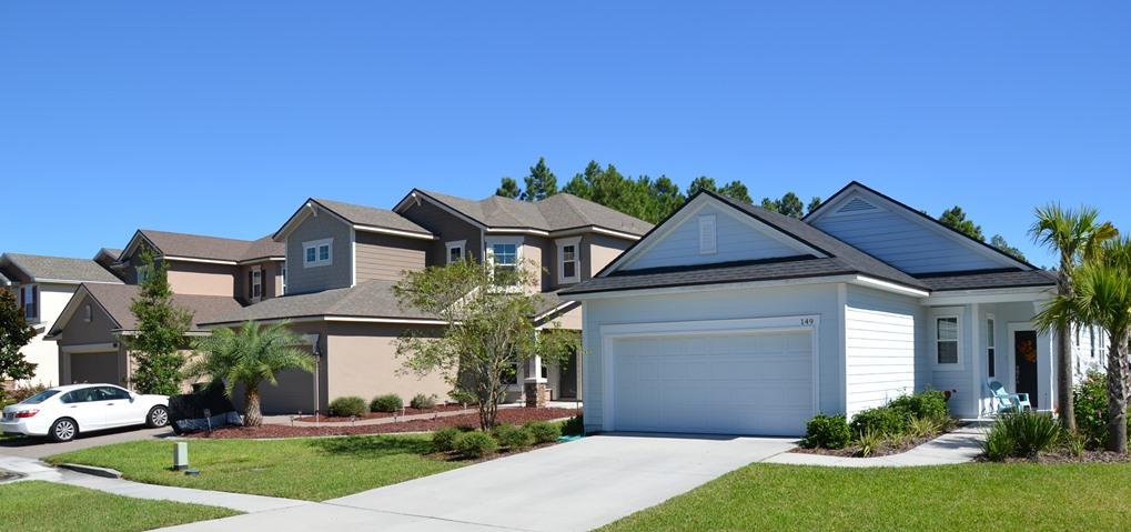 New homes in Greenleaf Village at Nocatee