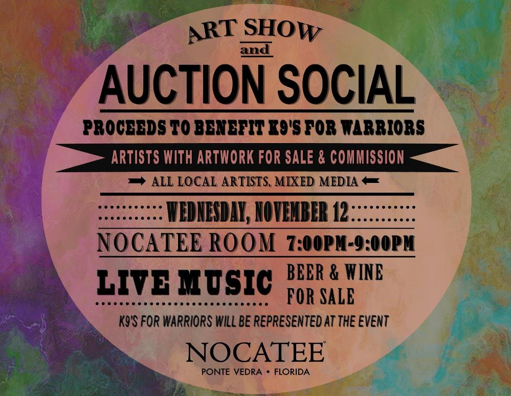 Nocatee Art Show and Auction Social for K9s for Warriors