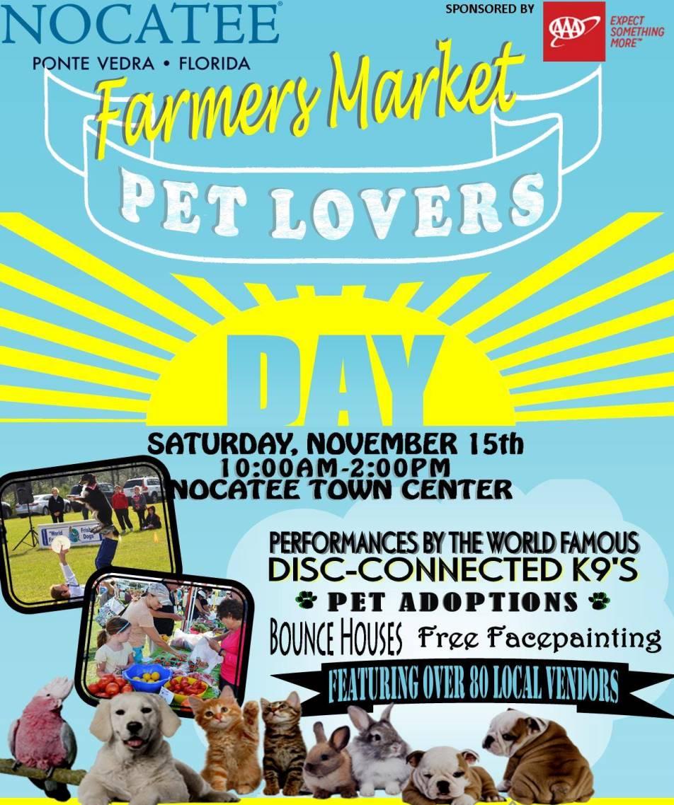 Pet Lovers Day Nocatee Farmers Market