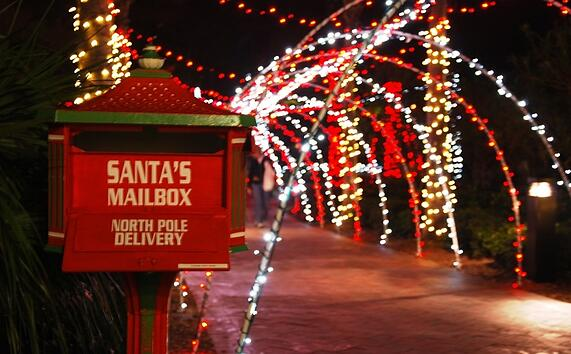 Santas Mailbox at Nocatee-A-Glow at Splash Water Park