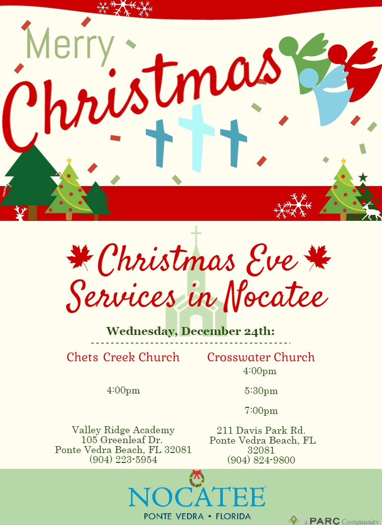 Christmas Eve Church Services at Nocatee