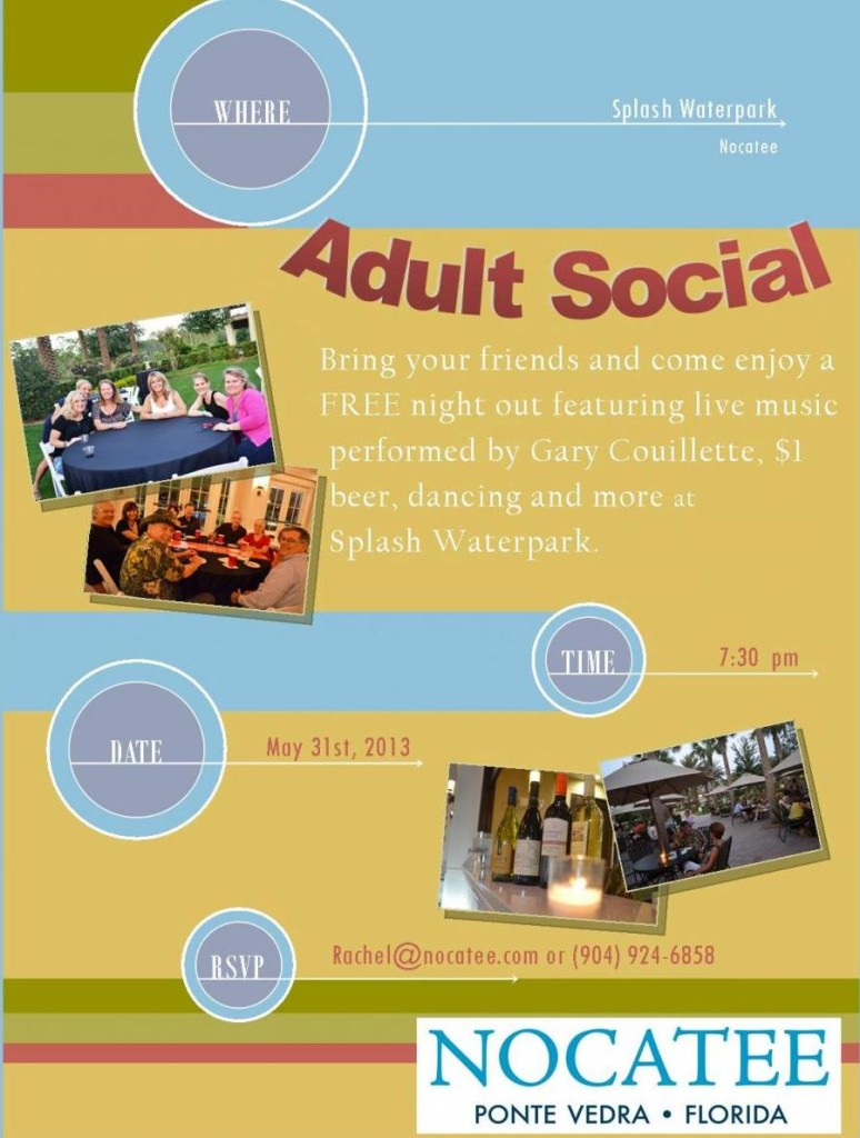 adult social Nocatee flyer