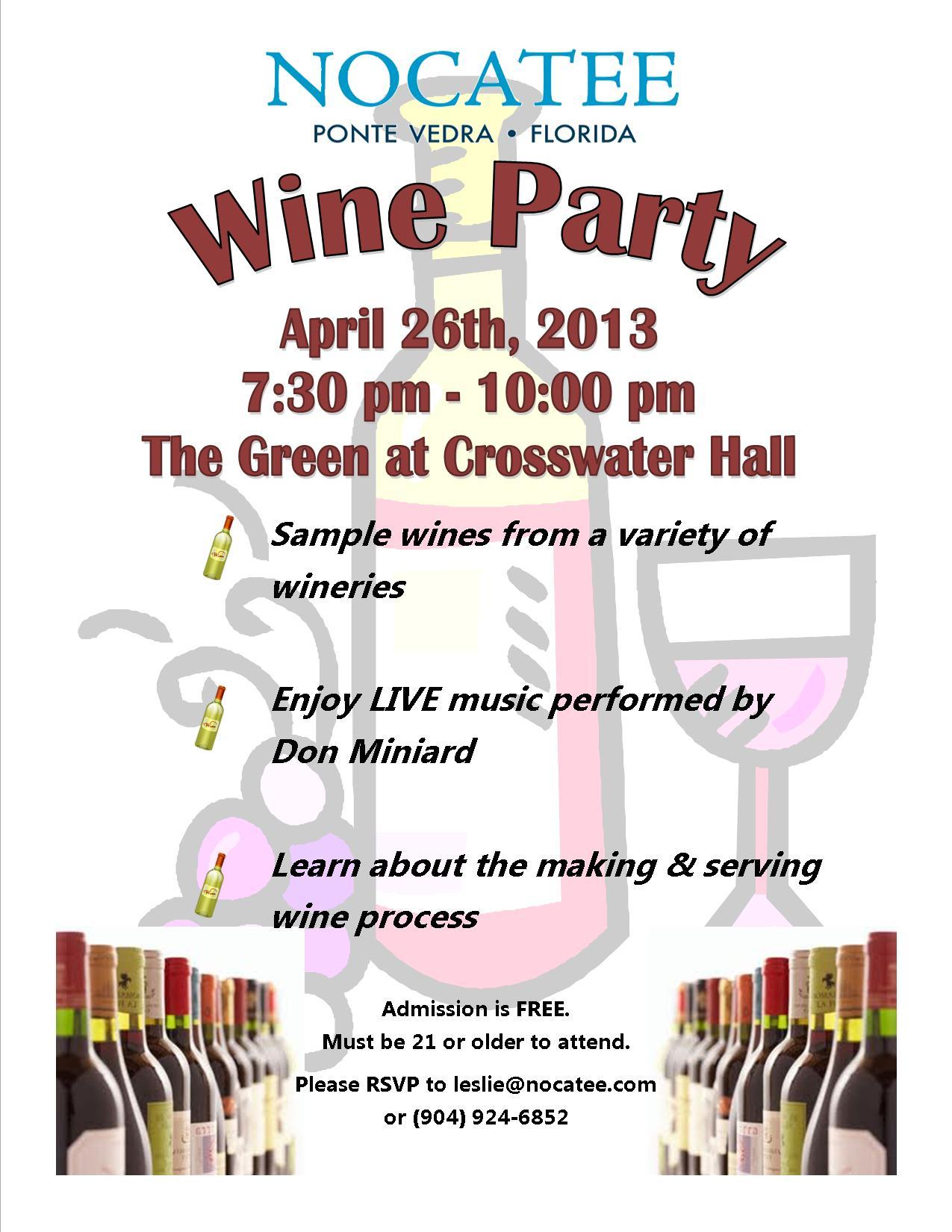 Nocatee Wine party