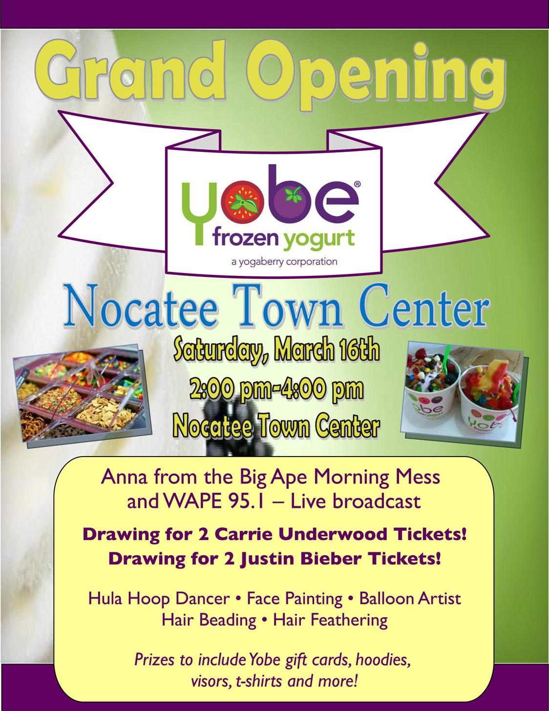 Nocatee event at YOBE