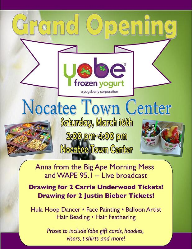 Nocatee event at YOBE