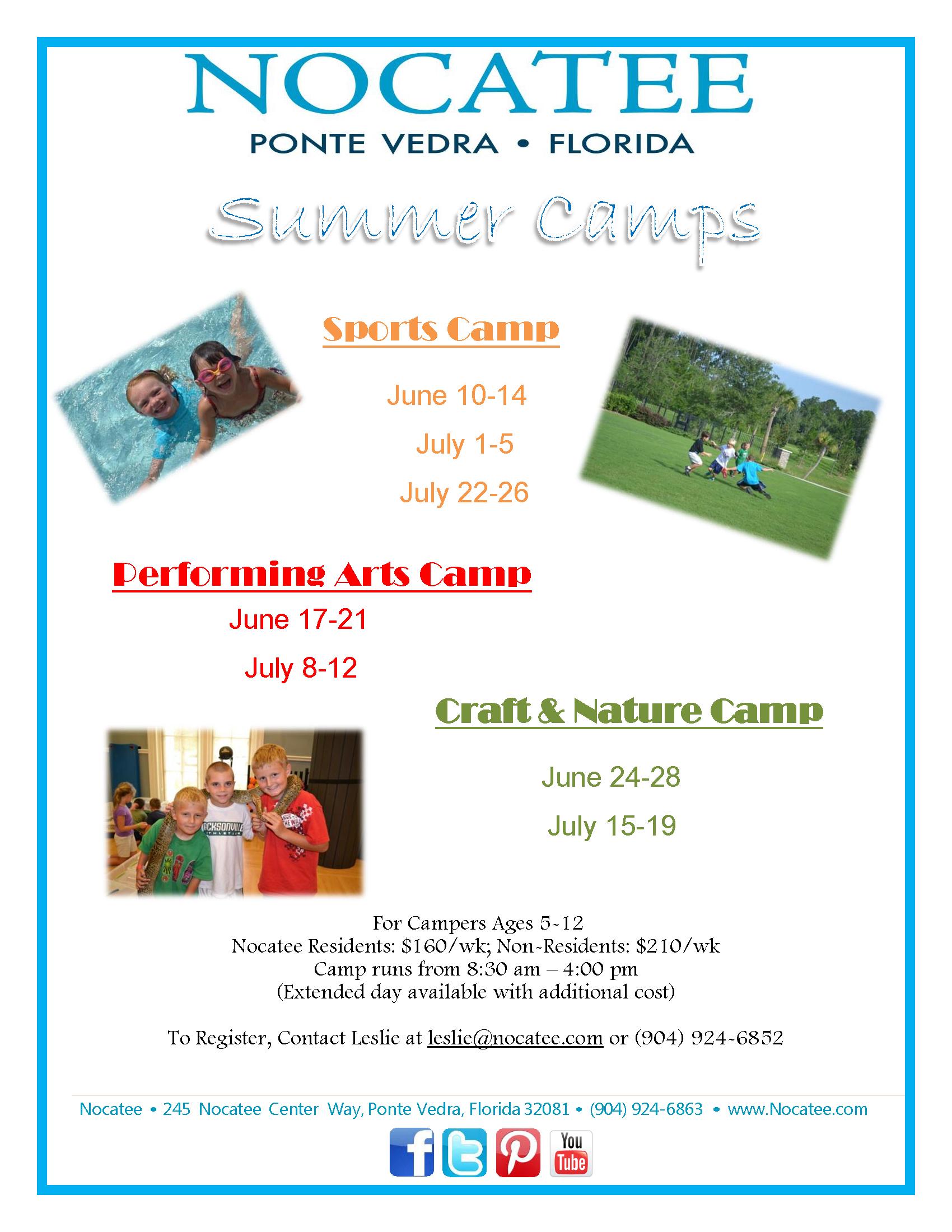 Nocatee Summer Kids activities