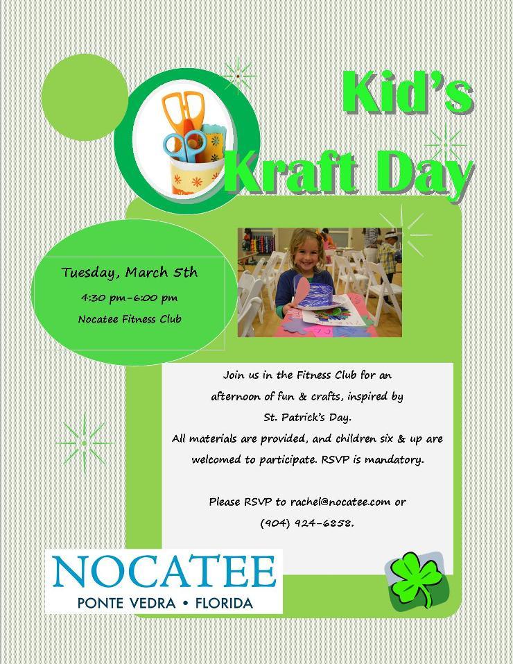Nocatee events Kids Kraft