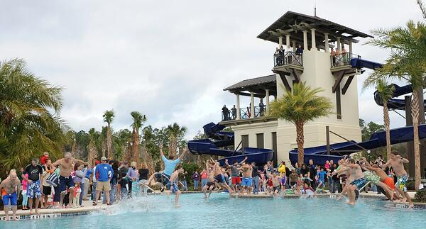 Nocatee Polar Plunge event at Splash Water Park