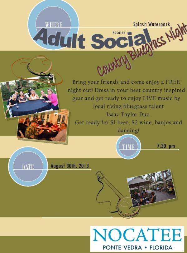 Nocatee Adult Social at Splash Water Park