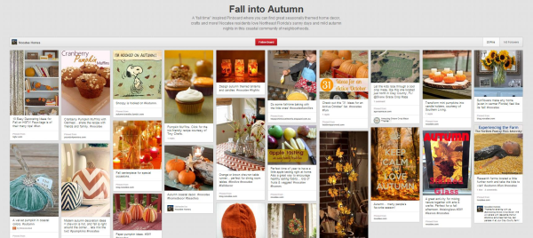 Nocatee Homes Fall into Autumn Pinboard