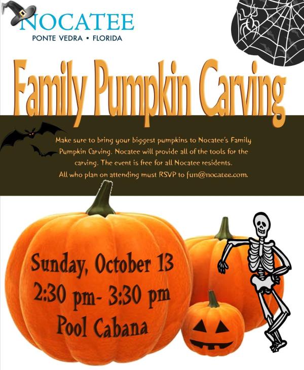 Nocatee Family Pumpkin Carving