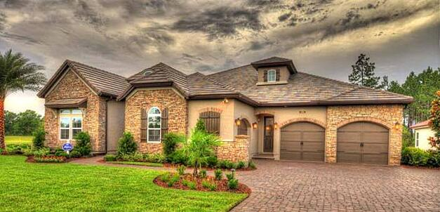 ICI Homes at Nocatee_Greenleaf Preserve_stone accents