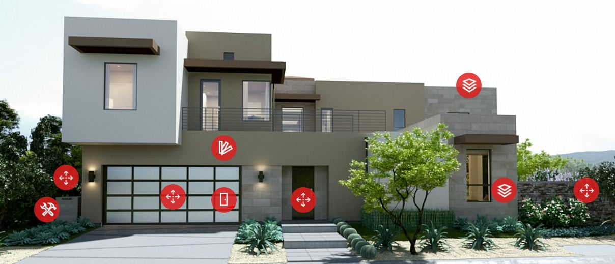 2014 New American Home Front Elevation