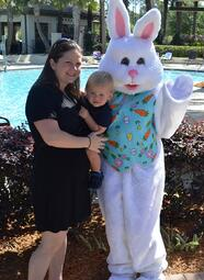 Easter Bunny at Splash Water Park