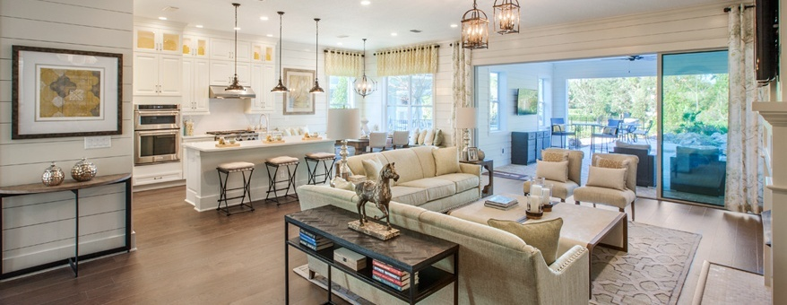 San Tropez Model Home in Coastal Oaks at Nocatee by Toll Brothers