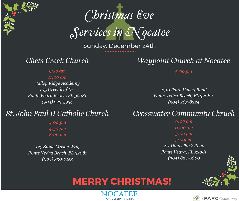 2018 Christmas Eve Church Services at Nocatee