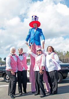 Barber Shop Quartet and Uncle Sam at Crosswater Grand-Opening