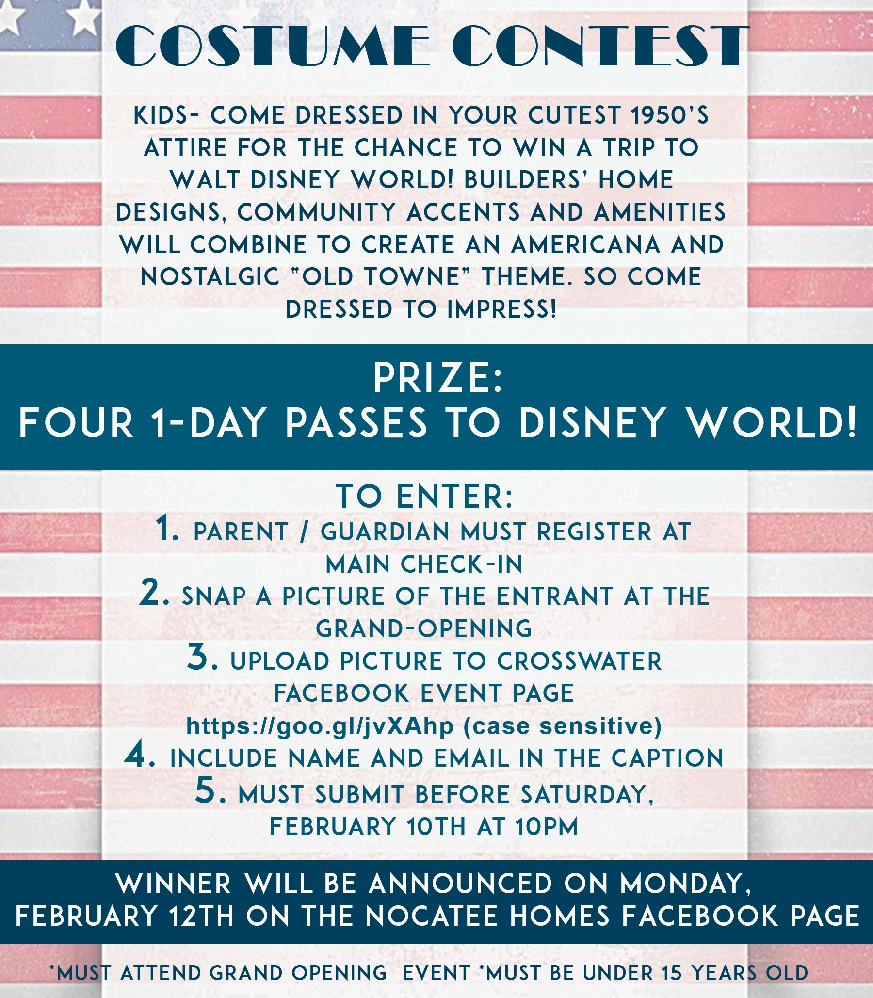 Crosswater Grand-Opening Costume Contest Guidelines