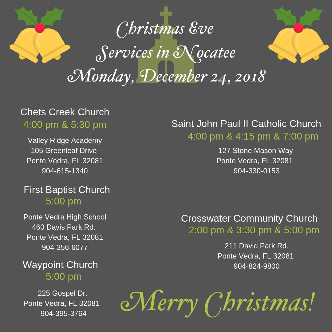 Christmas Eve Services in Nocatee 2018