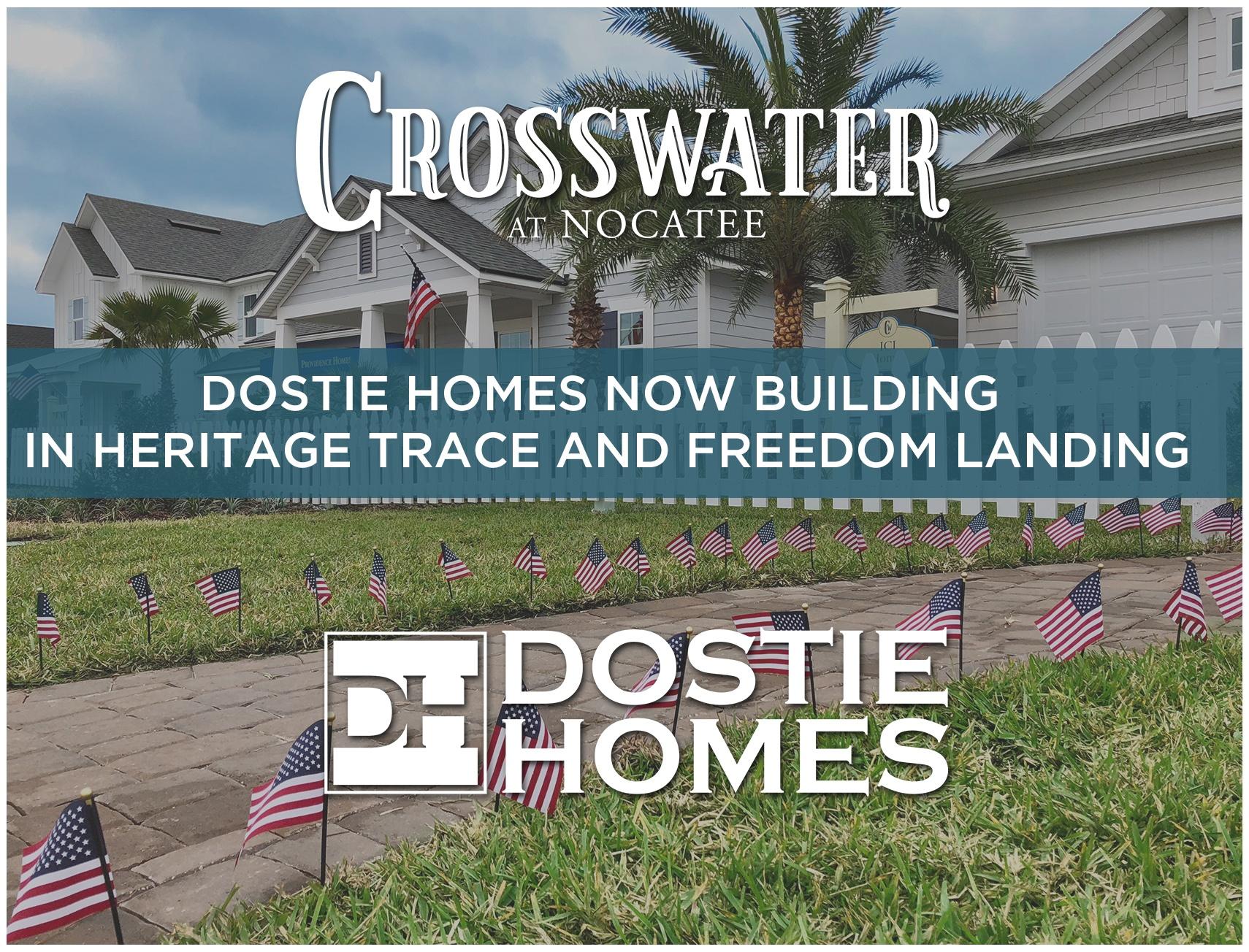 Dostie Homes Selling in Crosswater at Nocatee