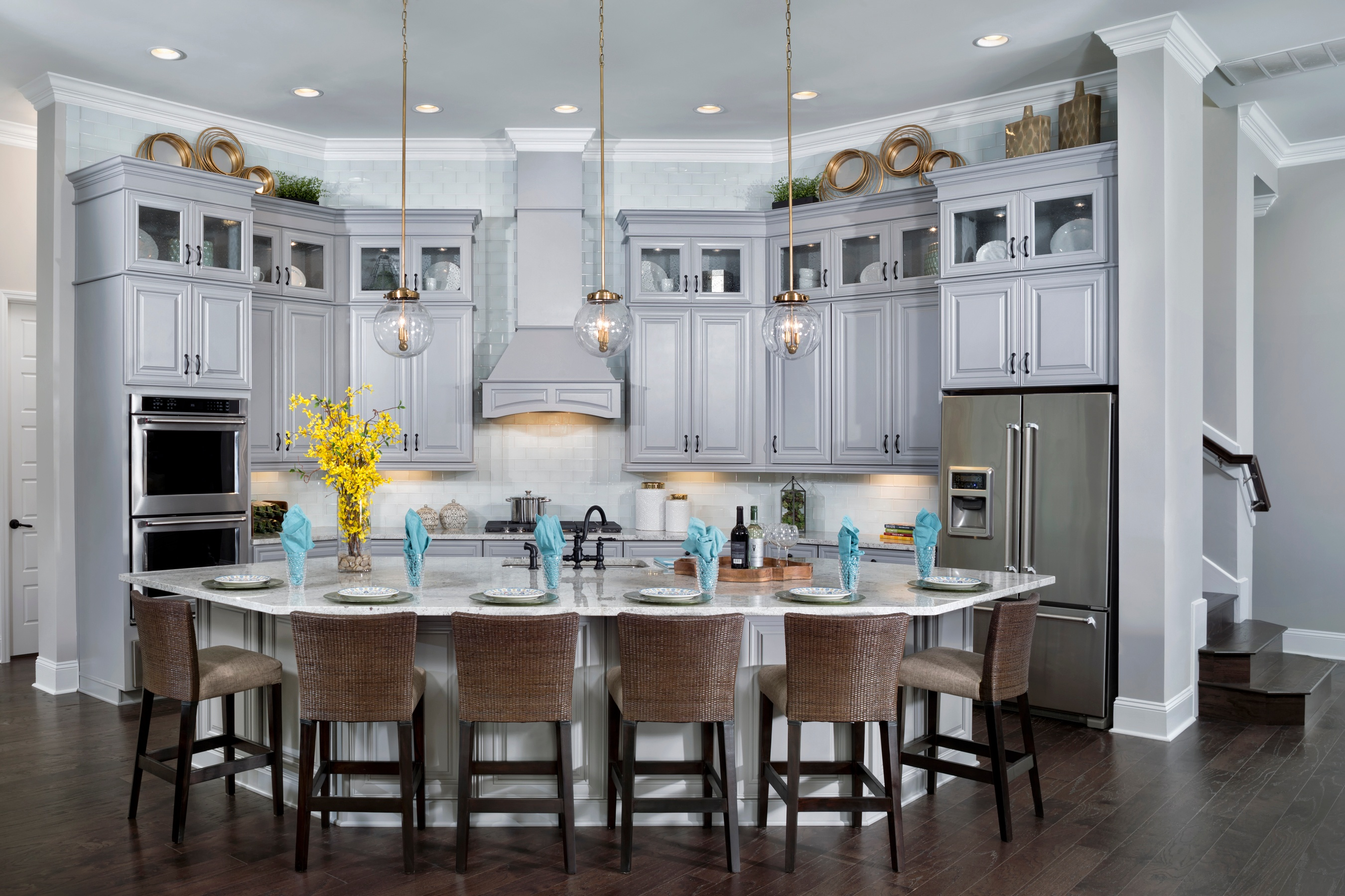 LaRocque Kitchen by David Weekley Homes in The Island