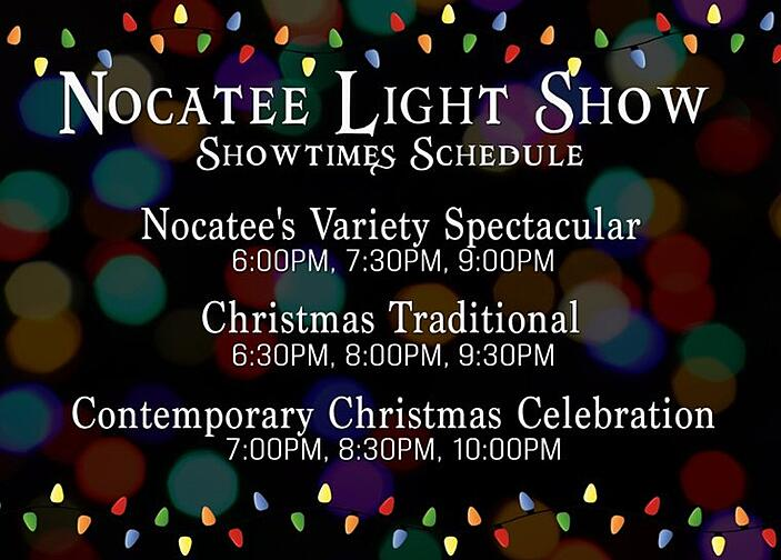 Nocatee Light Show Schedule 2018