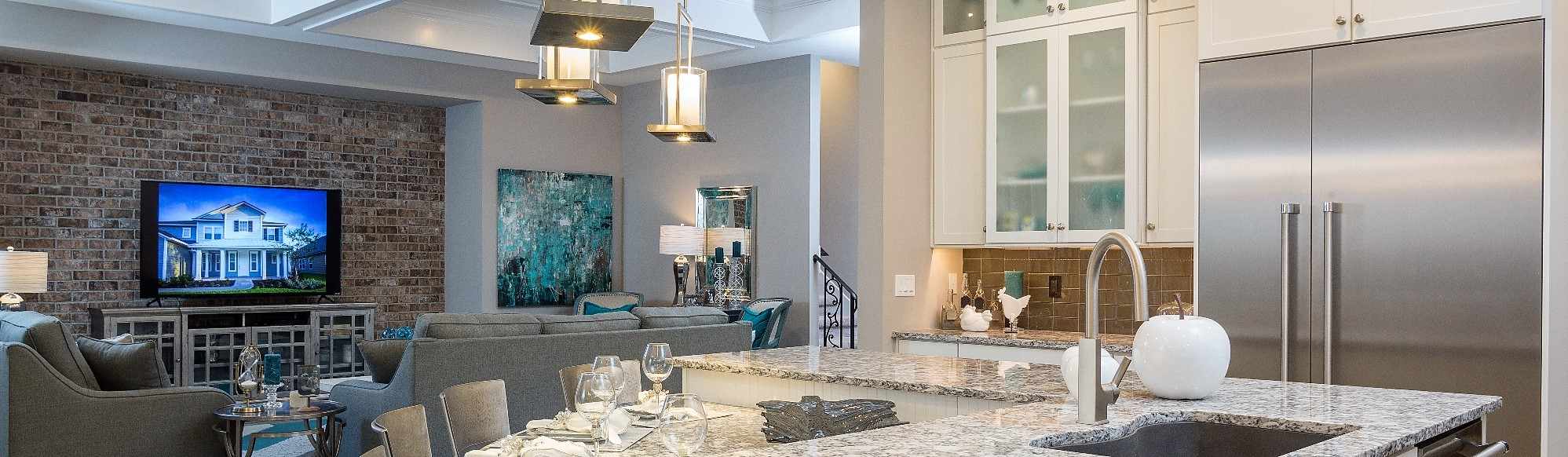 The Monroe Model-Home by Providence Homes in The Outlook at Twenty Mile