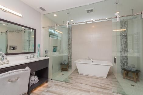 Master Bath of Providence's Monroe Model in The Outlook