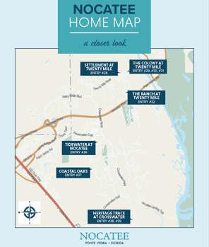Nocatee Home Map for Parade of Homes 2019