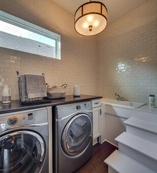Laundry Room of the Dream Finder's model in The Palms