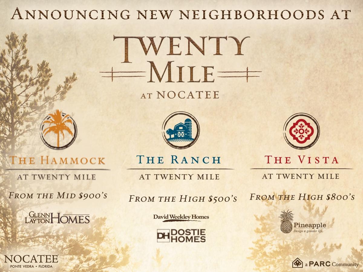New Twenty Mile at Nocatee Neighborhoods and Builders