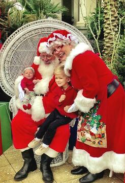 Santa visits at Nocatee Splash Water Park