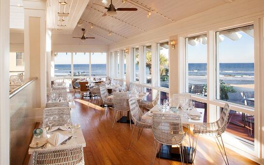 Oceanfront dining at Cabana Beach Club