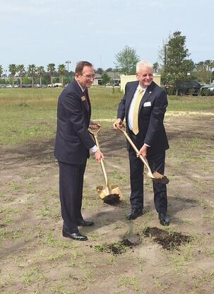 Bill Watson and Ed Forman at Nocatee Office Groundbreaking