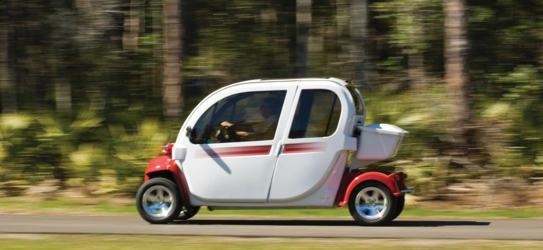 Electric vehicle on Nocatee greenway trails