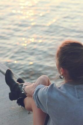 Relaxing near water