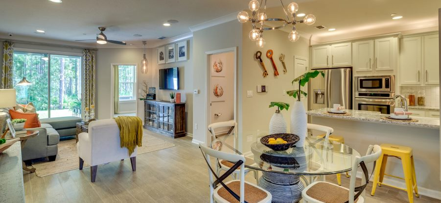 Nocatee Osprey Townhome Model Living Space