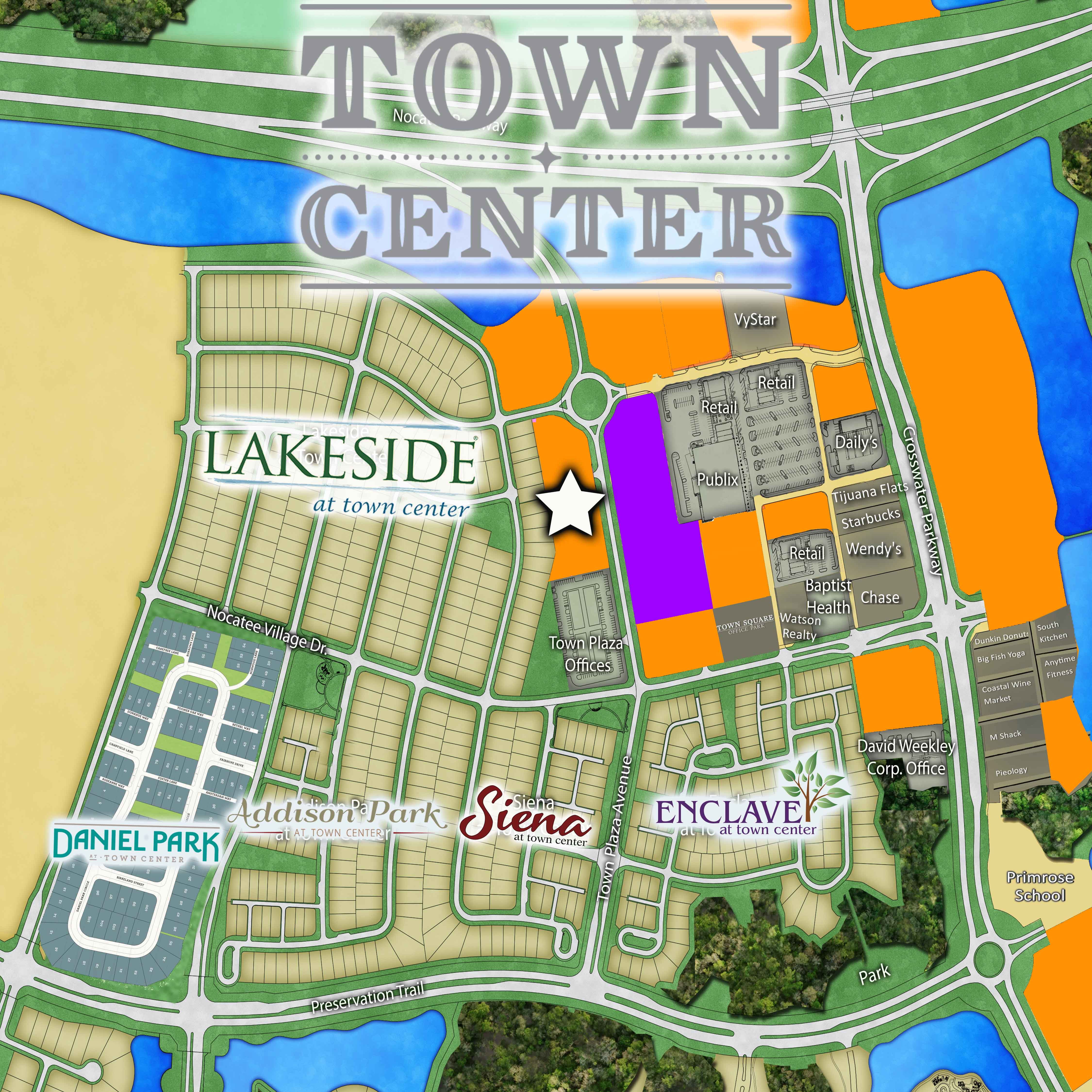 Nocatee Town Center Map