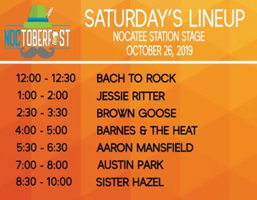 Noctoberfest 2019 Saturday Line Up