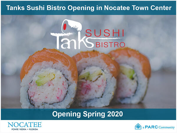 Tanks Sushi Bistro Opening at Nocatee