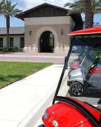 Golf cart at the Splash Water Park